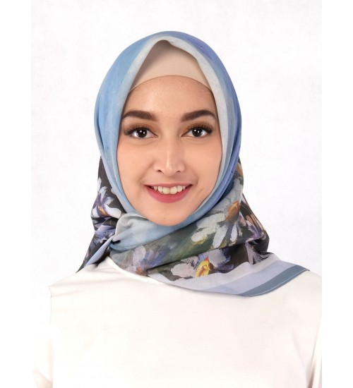 Hijab White Chrysanthemum
