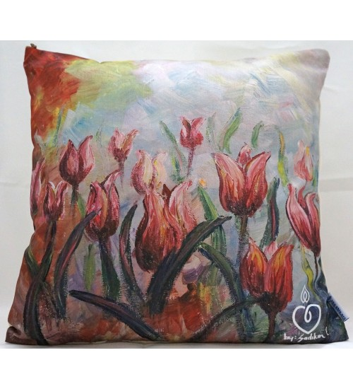 Throw Pillow cover the tulips